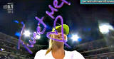 Maria Sharapova TV camera autographs