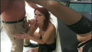Charming wife at glory hole