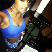 Christina Milian - recording in the studio 09/27/12 Twitpics
